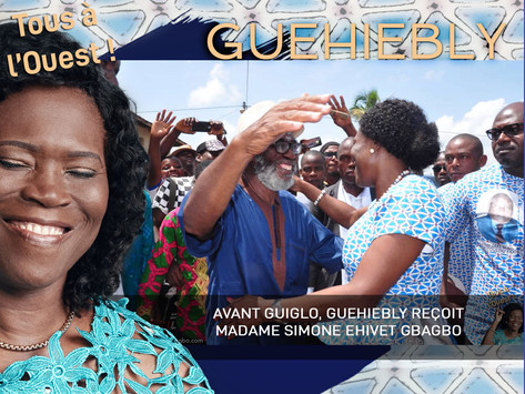 TOUS A L'OUEST  : AVANT GUIGLO, GUEHIEBLY REÇOIT MADAME SIMONE EHIVET GBAGBO.
