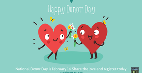 National Donor Day on Feb. 14 a great time to focus on donation