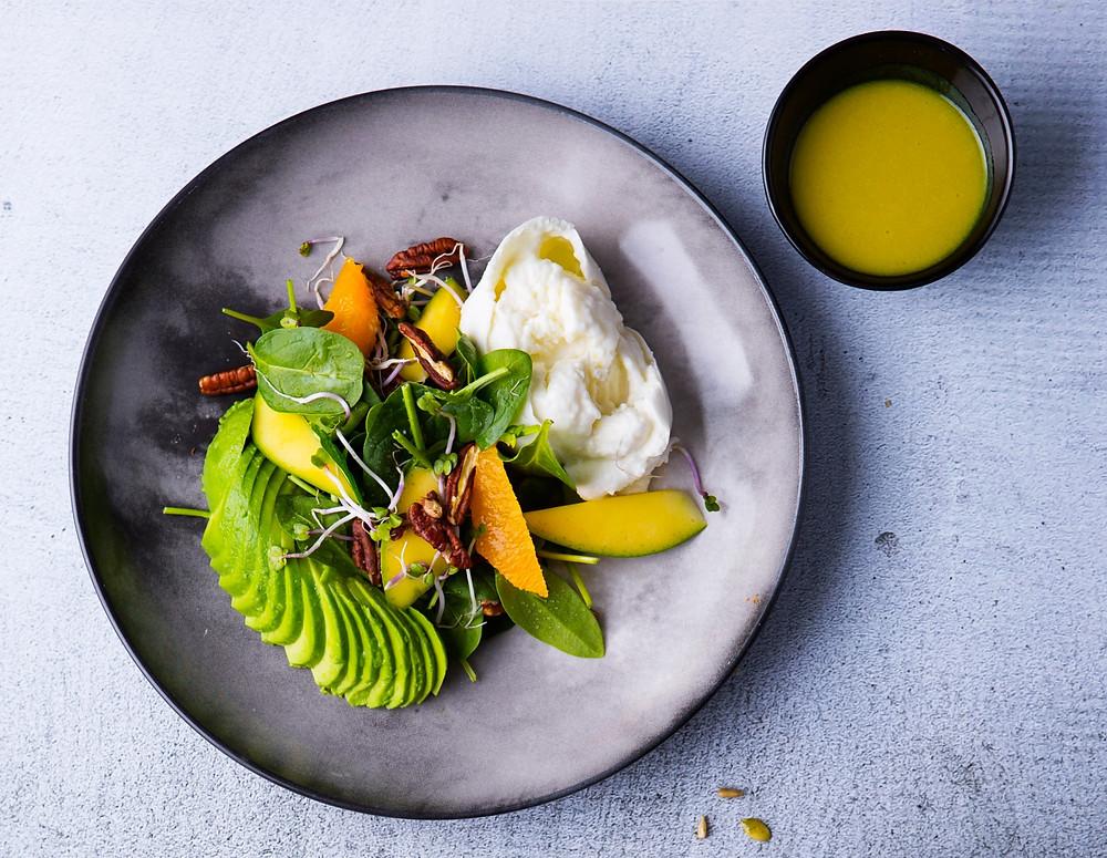 Burata salotos su mangu, VMG receptai
