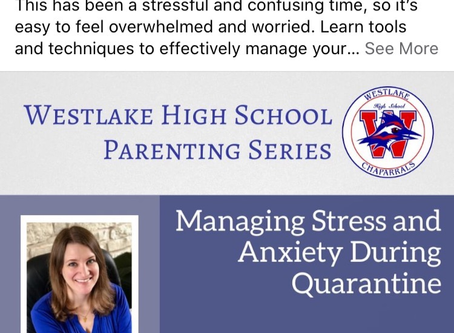 Managing Stress & Anxiety During COVID-19 Quarantine-Zoom April 16 Noon-1PM