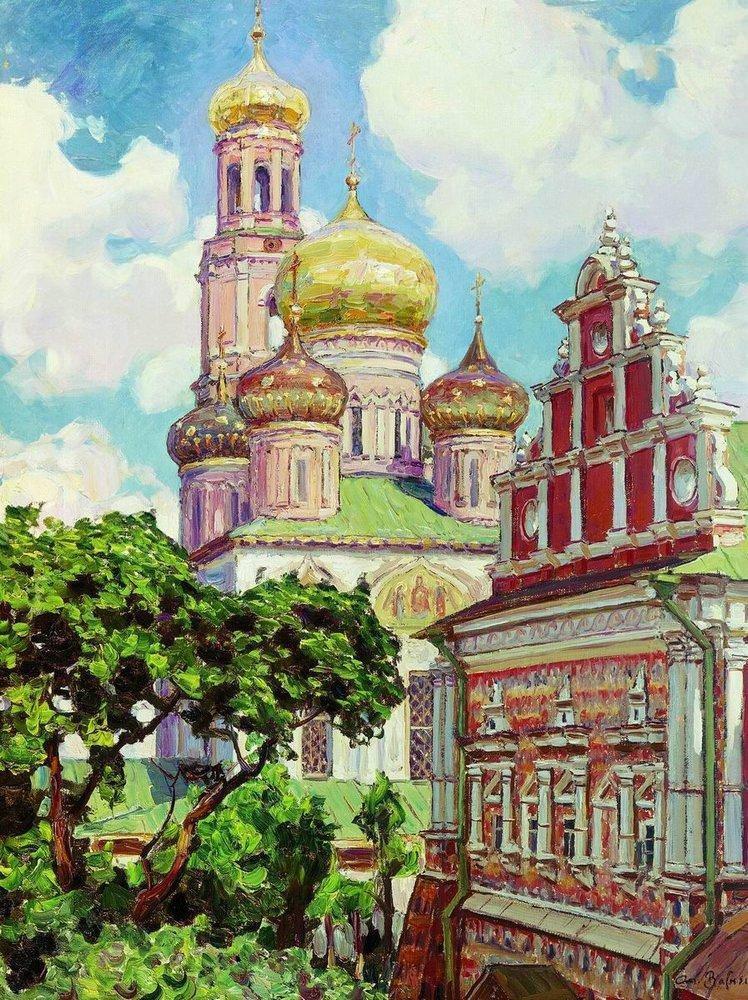 Симонов монастырь. Облака и золотые купола (1927 год)