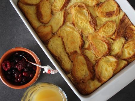 Croissants en Pudding, en 4 ingrédients