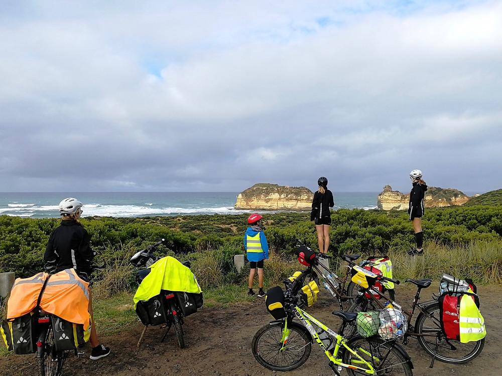 Tour du monde à vélos en famille kangourou Australie