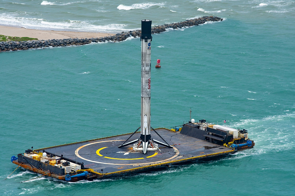 Falcon 9 Booster landed on 'Of Course I Still Love You'to be reused - SpaceX