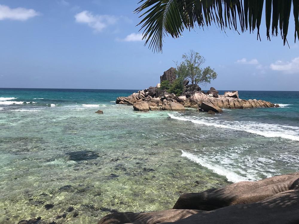 Anse La Blague beach Praslin Seychelles.