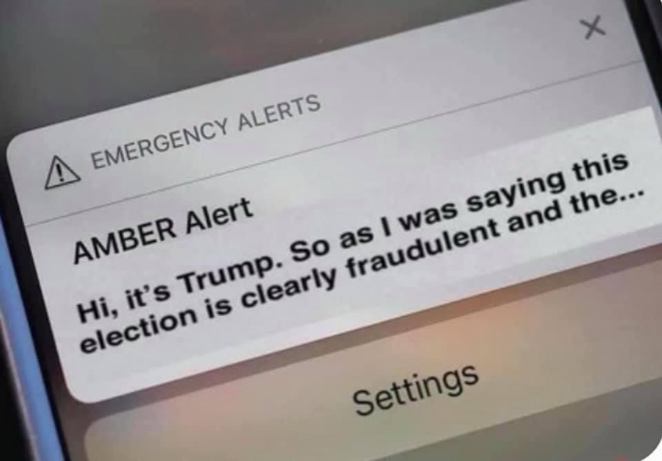 Funny Amber Alert Trump Meme
