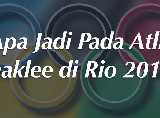 Apa Jadi Pada Atlit Shaklee di Rio 2016?