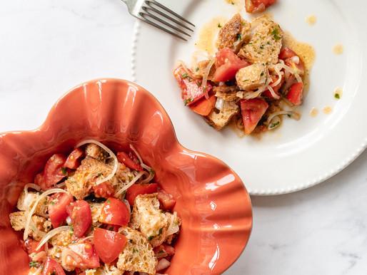 Panzanella - salada de pão e tomates