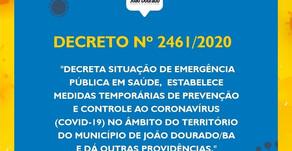 ⚠️ Informativo da Prefeitura de João Dourado - 22 de março de 2020