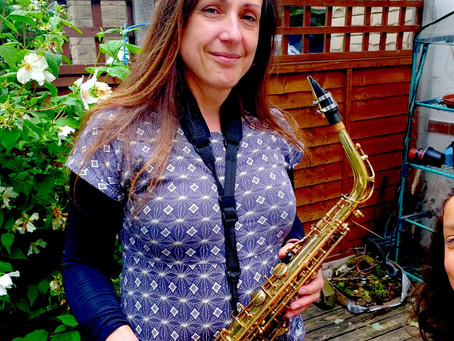 Here is one of the saxophonists...