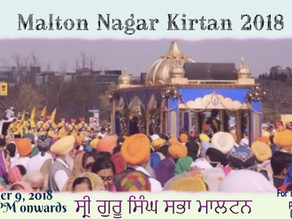 Malton Nagar Kirtan 2018
