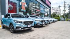 """ส่งมอบรถยนต์ไฟฟ้า MG ZS EV มาให้บริการในรูปแบบ """"คาร์เเชร์ริ่ง"""""""
