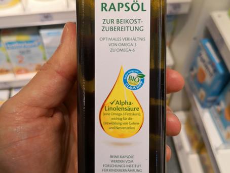 Omega 3 in HiPP-Rapsöl für Babies