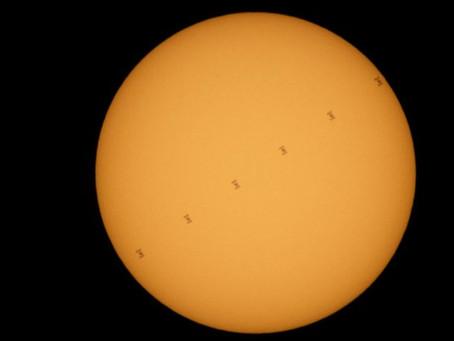ISS Sails Across the Sun