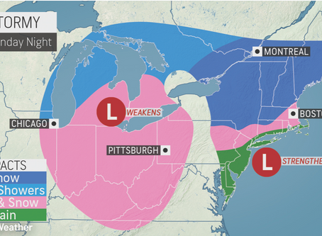 ACCUWEATHER METEOROLOGISTS PROVIDE UPDATE ON RAIN AND SNOW HEADED TOWARD NORTHEAST