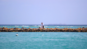 Destination Wedding First Look in Aruba