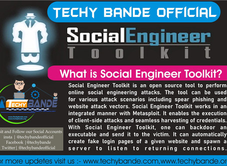 Social Engineer Toolkit(SET)-Hacking Tools For Windows 10 and MacOS