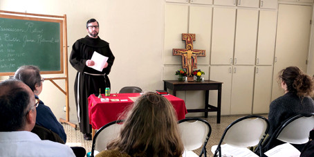Brother James Nathaniel leads a Franciscan Retreat in San Francisco