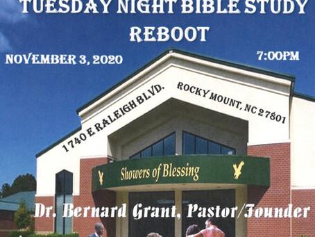 TONIGHT! Tuesday Night Bible Study