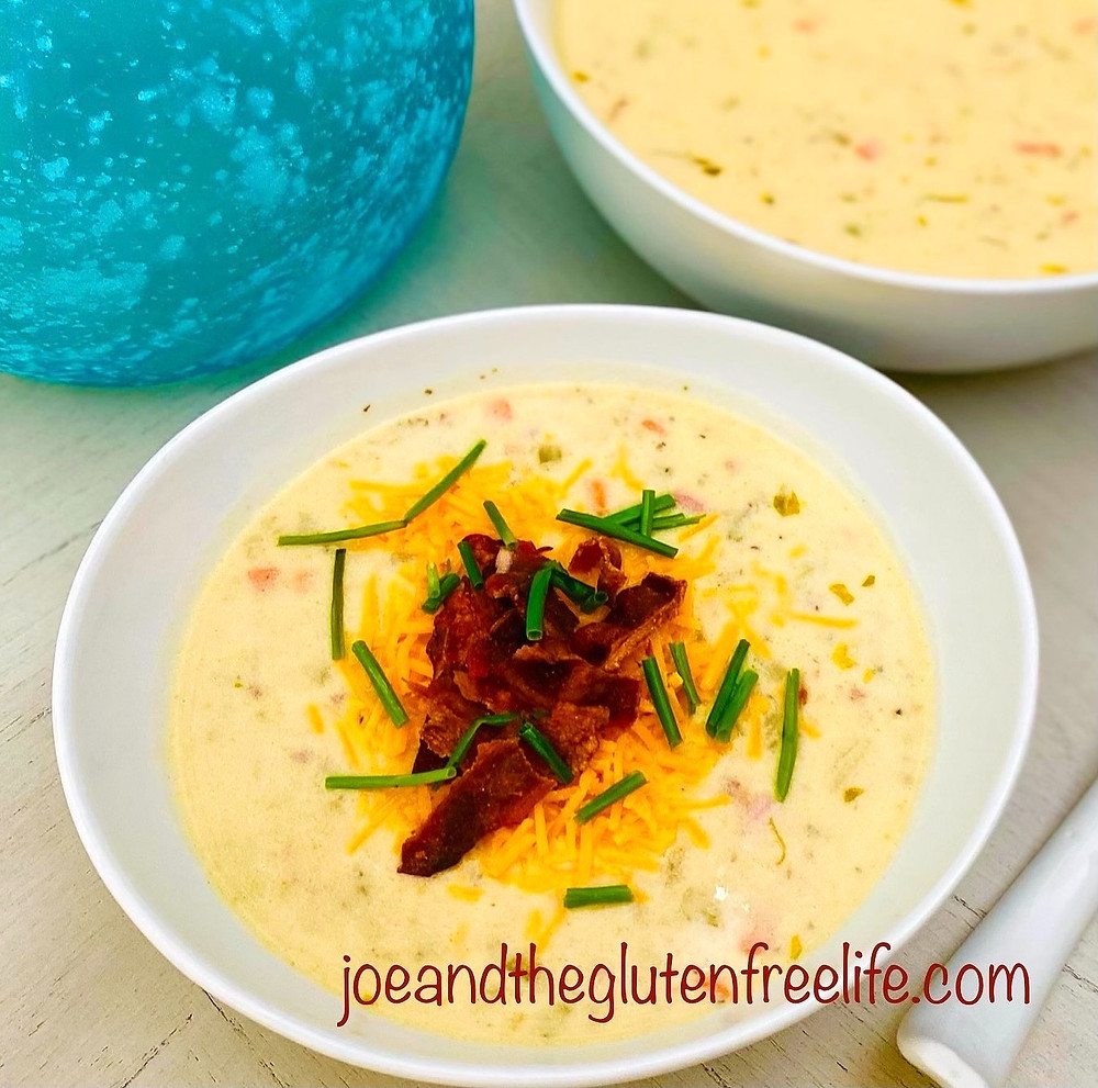 Learn how to make this delicious creamy potato soup loaded with bacon and ham bits!