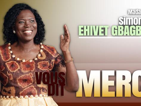 MOTS DE REMERCIEMENT DE MADAME SIMONE EHIVET GBAGBO À L'ENDROIT DES FÉDÉRATIONS DU SUD-COMOÉ