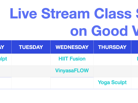 Live Stream Schedule for the Week