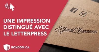 """L'art de l'impression avec le """"Letterpress"""" pour vos cartes d'affaires."""