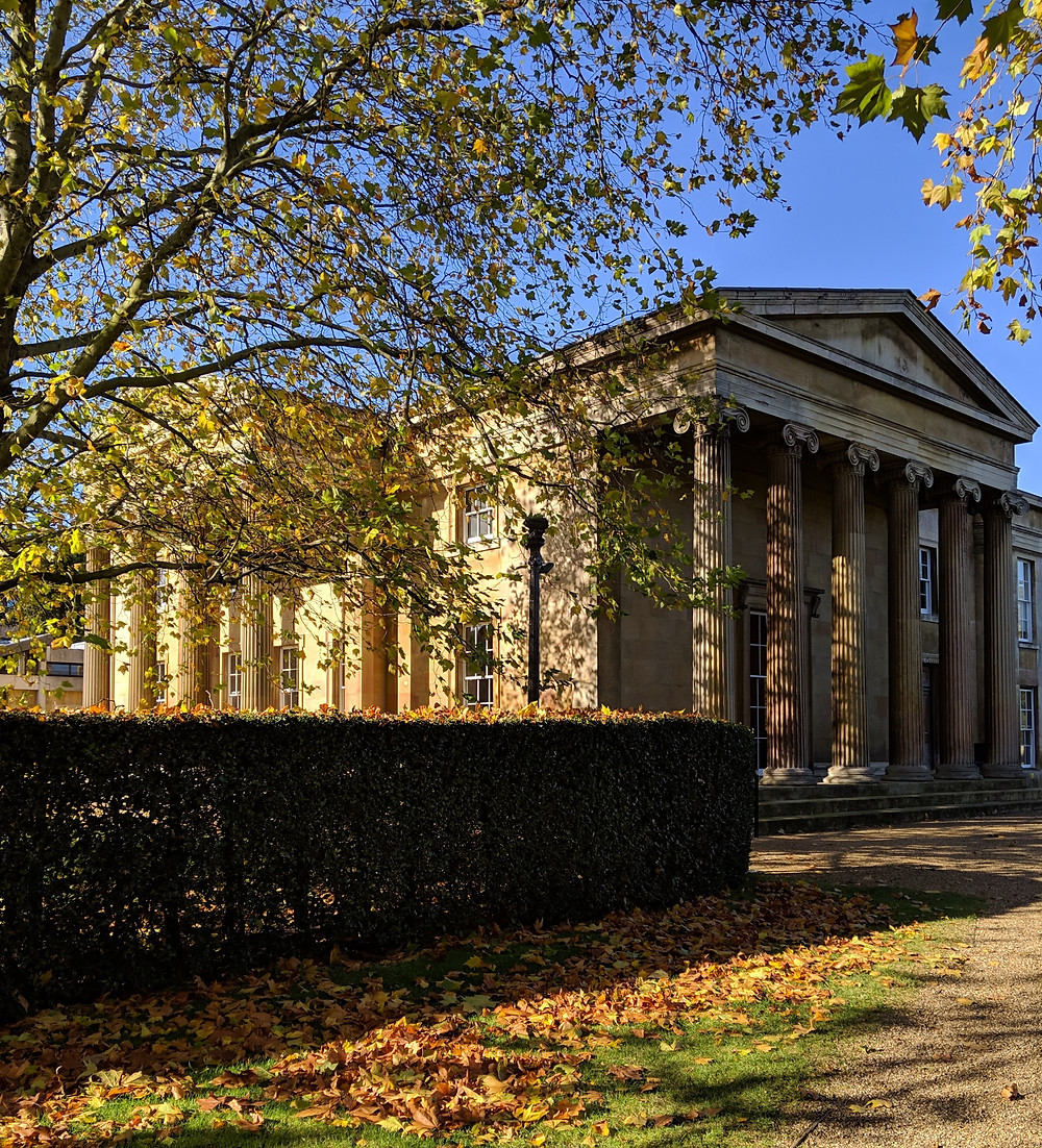 Downing College, founded in 1800 with an endowment from Sir George Downing III. The eponymous London landmark was named after his grandfather, Sir George Downign I.