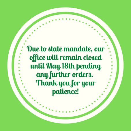 Closed until May 18th due to state order extension