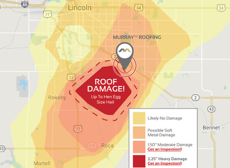 Roof Damage Zones Map From Hailstorm On April 12, 2020
