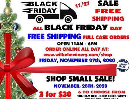 BLACK FRIDAY & SHOP SMALL SATURDAY DEALS...
