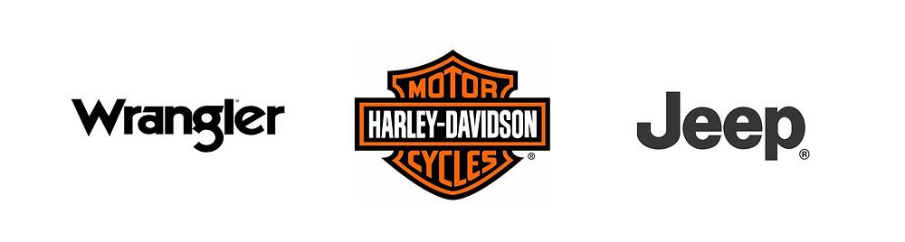 Rugged Brand Logos Wrangler Jeep Harley Davidson