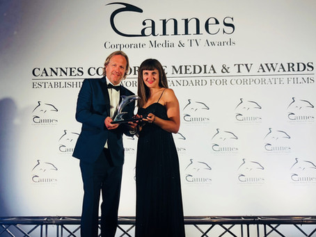 Silberner Delphin in Cannes