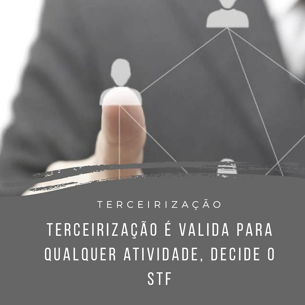 terceirizações atividade fim STF julgamento