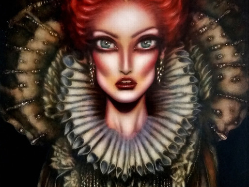 Queen Elizabeth I and the Divine Painting by Tiago Azevedo