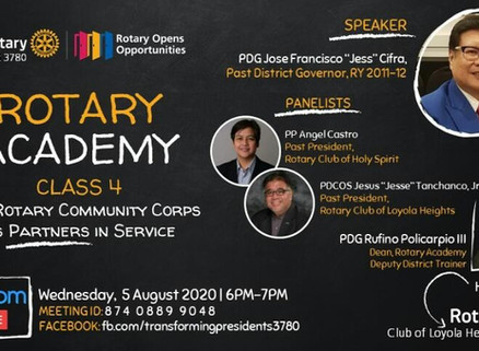 Rotary Academy Class 4