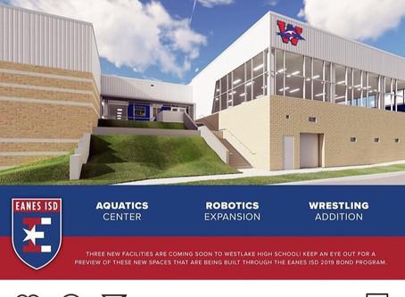 Eanes New Digs-Aquatics, Robotics, Wrestling