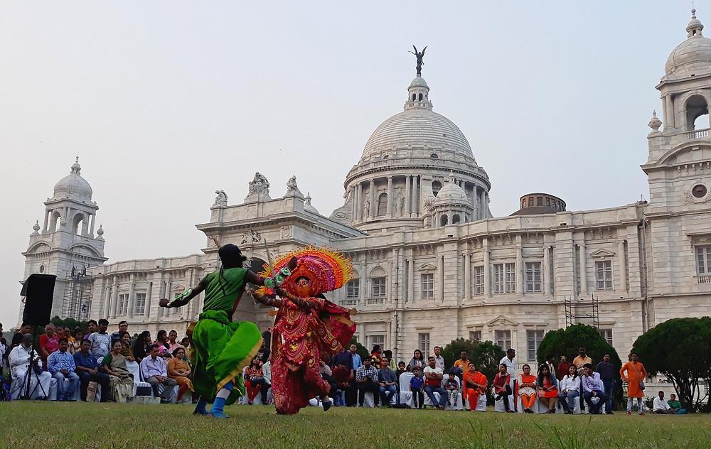 chhau dance victoria memorial bengal heritage bangla canvas