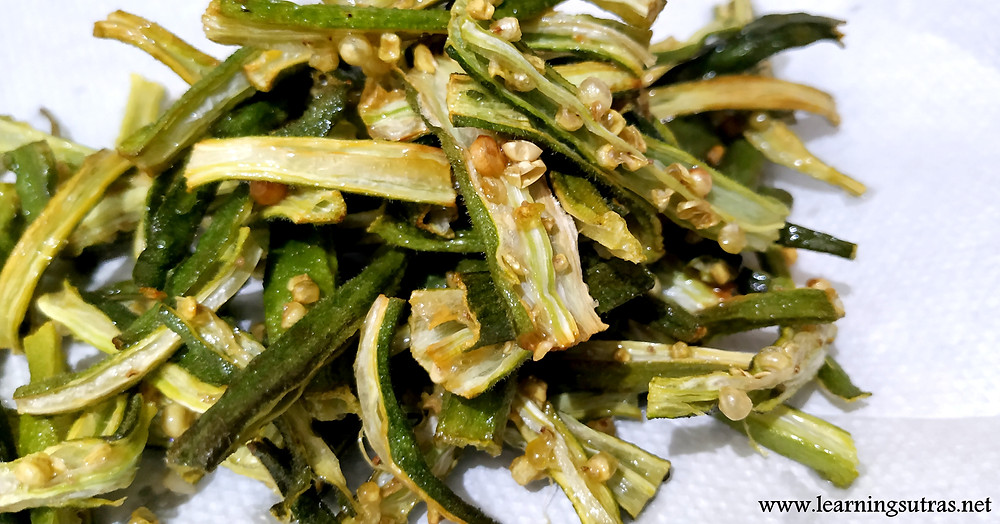 BHINDI FRY RECIPE - www.learningsutras.net