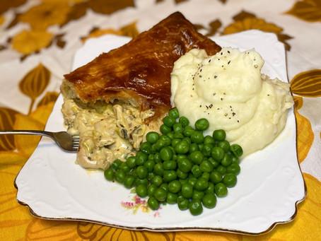 creamy chicken and tarragon puff pie