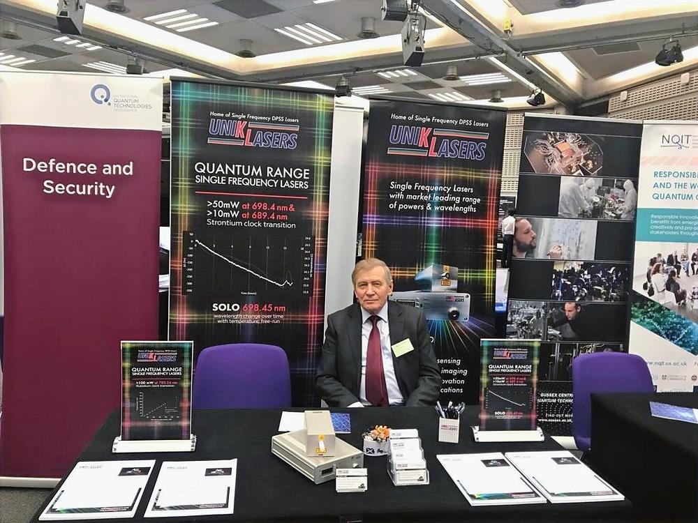 Fedor Karpushko at UK National Quantum Technologies Showcase 2019