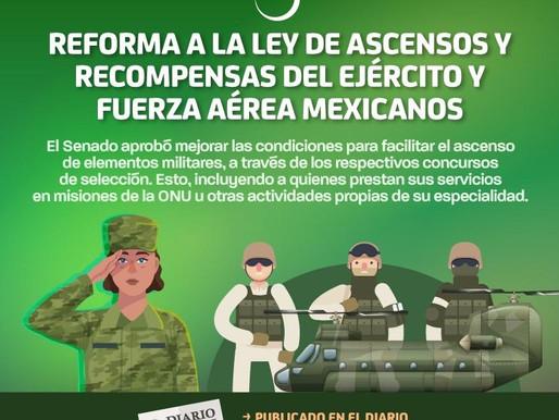 Reforma a la Ley de Ascensos y Recompensas del Ejército y Fuerza Aérea Mexicanos