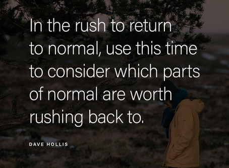 Rush to return to normal..