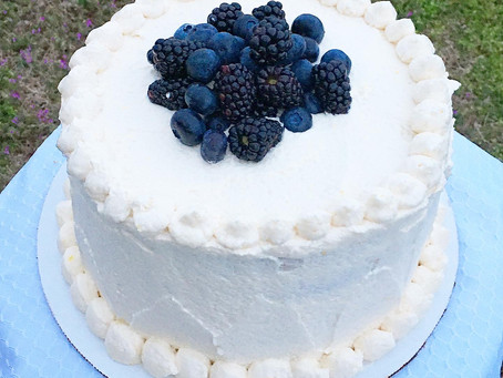 Luscious Vegan Lemon Blueberry Cake