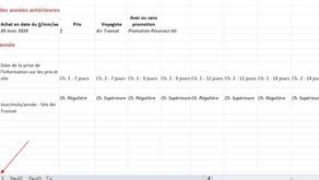 Outil Excel pour suivre les prix de nos forfaits