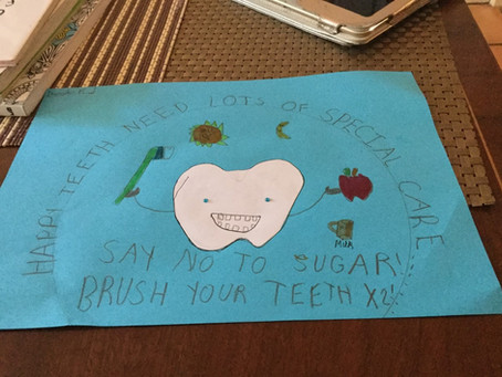 Devinder in 4S has produced a poster how to look after teeth.