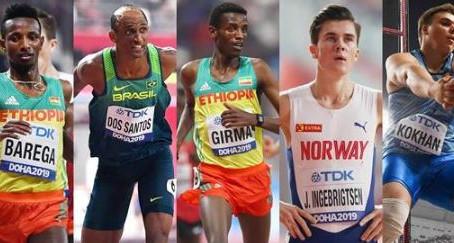 Los 5 finalistas al Atleta Mundial del Año 2019