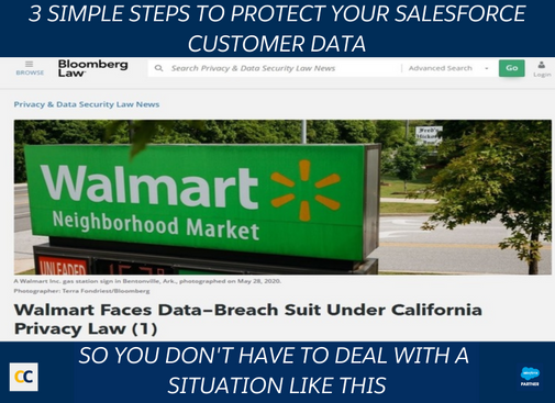 3 Simple steps to protect your salesforce customer data