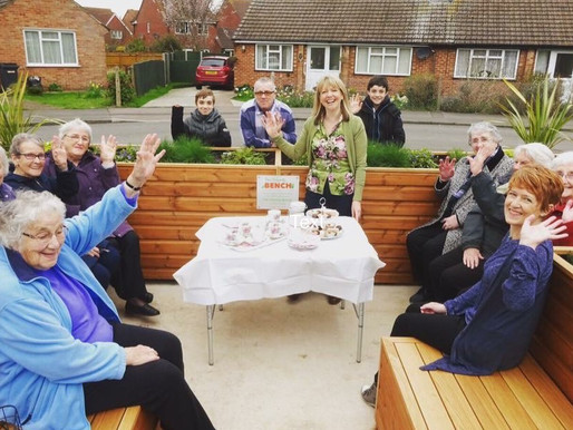 The Friendly Bench™ CIC cheers on the National Lottery's 25th birthday celebrations