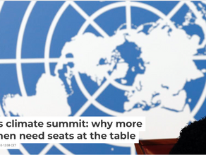 Paris Climate Summit: Why More Women Need Seats at the Table